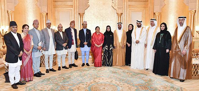 أمل القبيسي تبحث تعزيز العلاقات الثنائية مع رئيسة جمهورية نيبال